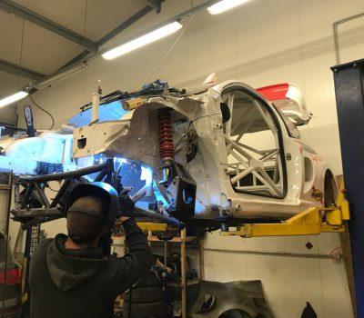Rallikrossi auto Peugeot 207 ehitamine Lepp Motors esinduses